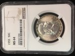 1955 Franklin Half NGC MS64 Full Bell Lines